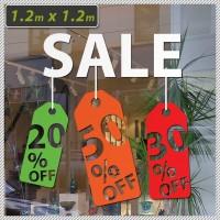 Sale - Large Shop Front Multi-colour Business Sign 120cm x 120cm