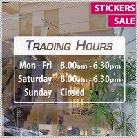 Trading Hours Shop Front Business Sign