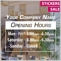 Trading Hours Shop Front Business Sign with Business Name